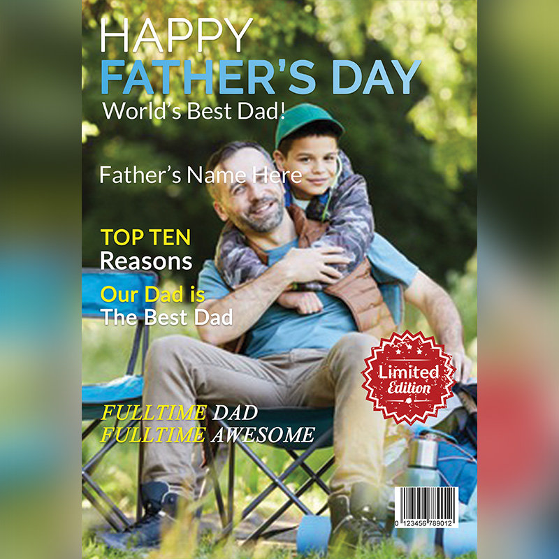 Personalised Digital Magazine for Fathers Day