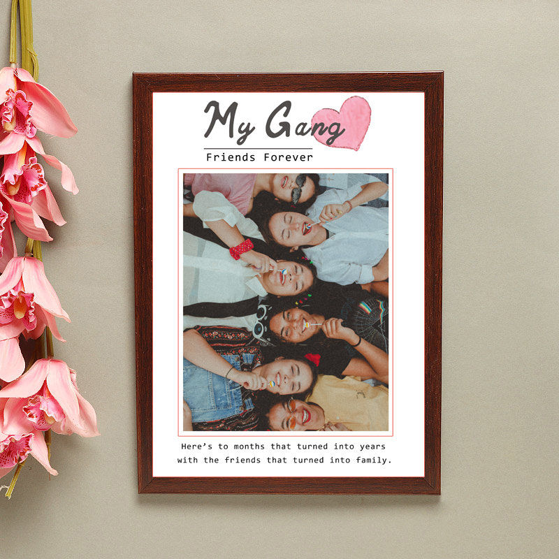Personalised Wall Frame for Friends