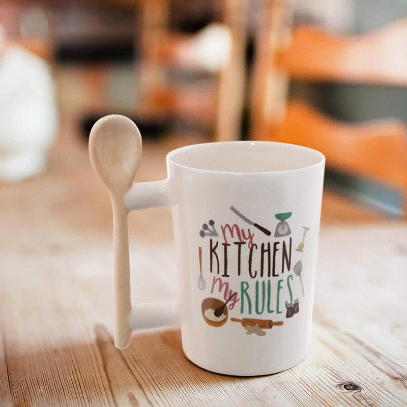 My Kitchen Rules Mug - Coffee Mug a Birthday Gift for Girlfriend