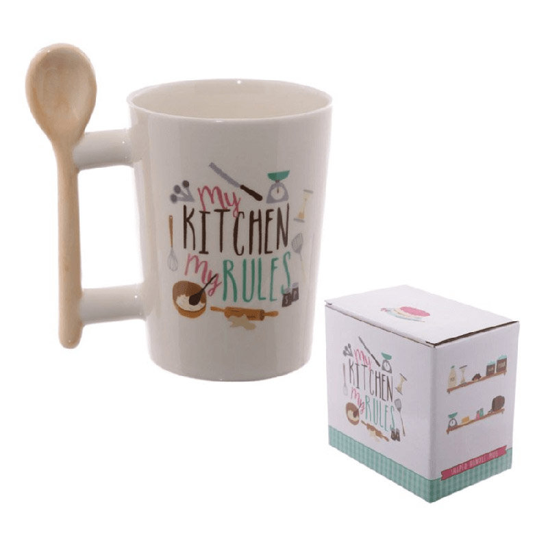 My Kitchen My Rules Coffee Mug with a Box - A Birthday Gift for Girlfriend