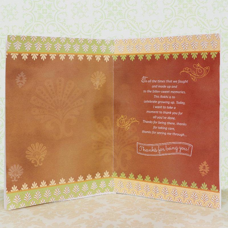 Rakhi Card - Card and Rakhi Combo for Bro