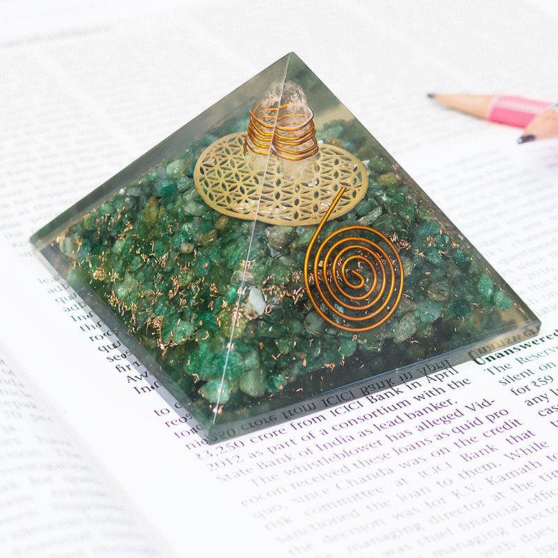 Mystical Pyramid Prism - Pyramid Prism Home Decor FengShui Crystal