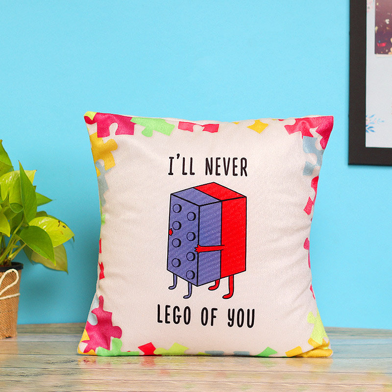 Never Let Go Printed Cushion with Distant View