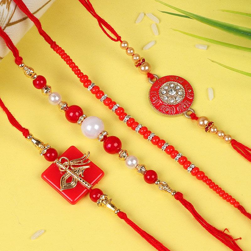 Precious Set of 4 Rakhi
