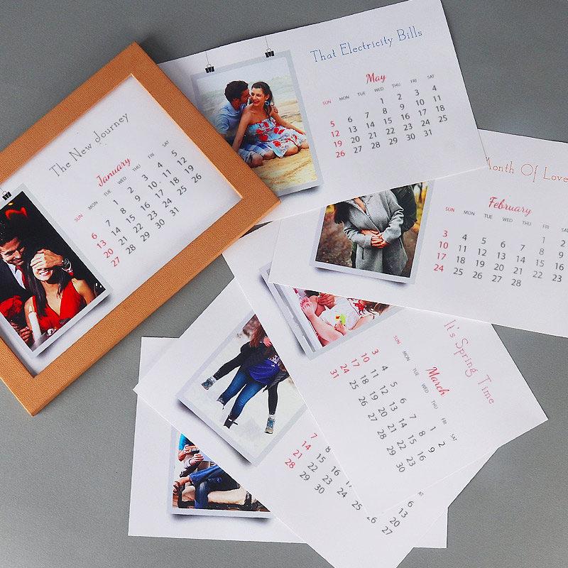 Personalised New Year Photo Calendar Gift