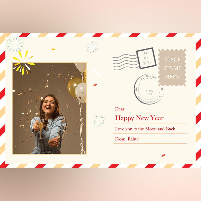 New Year Photo Postcard