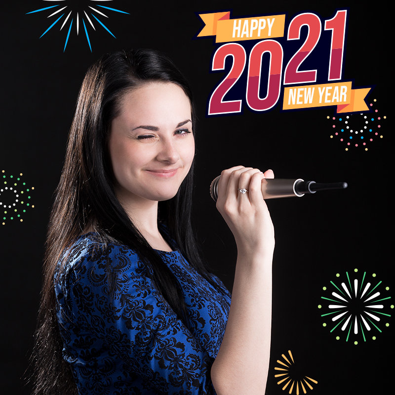 New Year Singer Poster