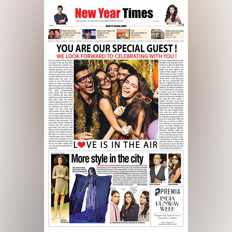 New Year Times Digital Newspaper