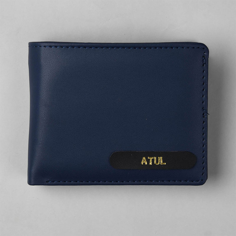 Nifty Navy Custom Mens Wallet - Fathers Day