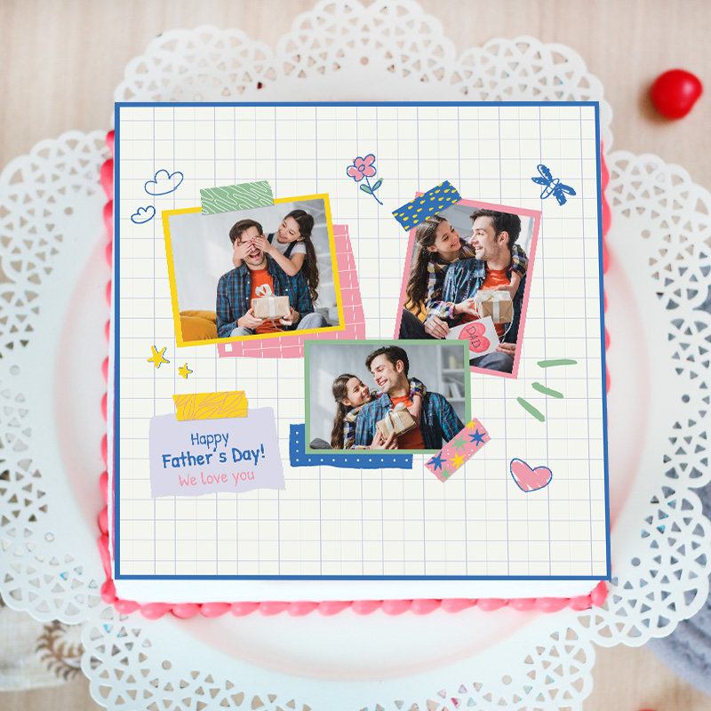 Notebook Father Photo Cake