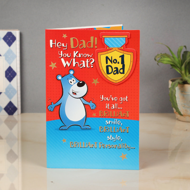 Number One Dad Greeting Card