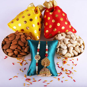 Nutritious Rakhi Set With Dry Fruits