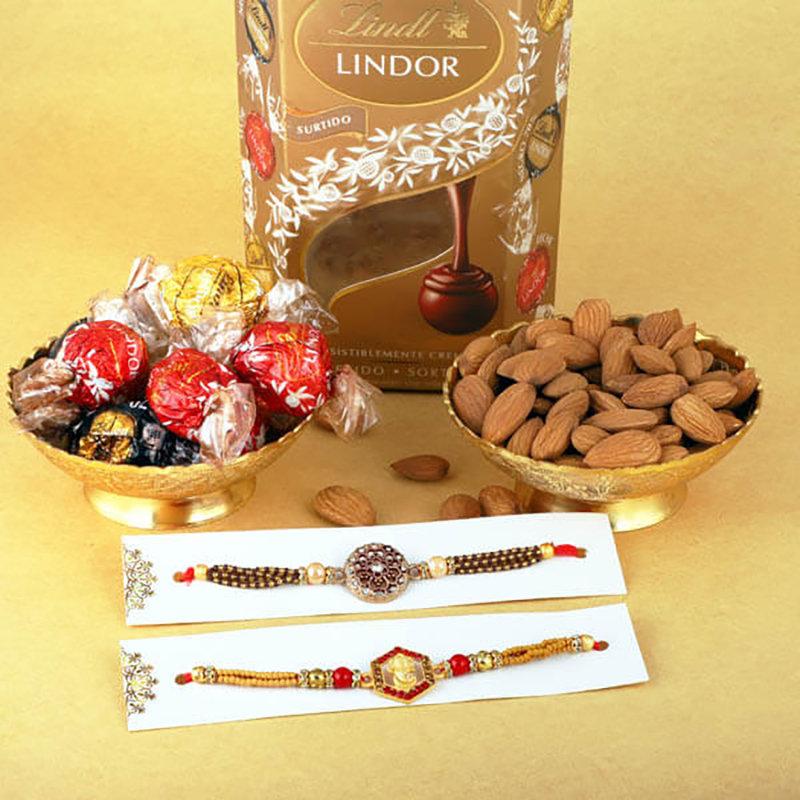Nuts & Lindor Rakhi Set