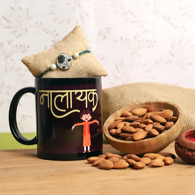 Nuts N Rakhi With Mug