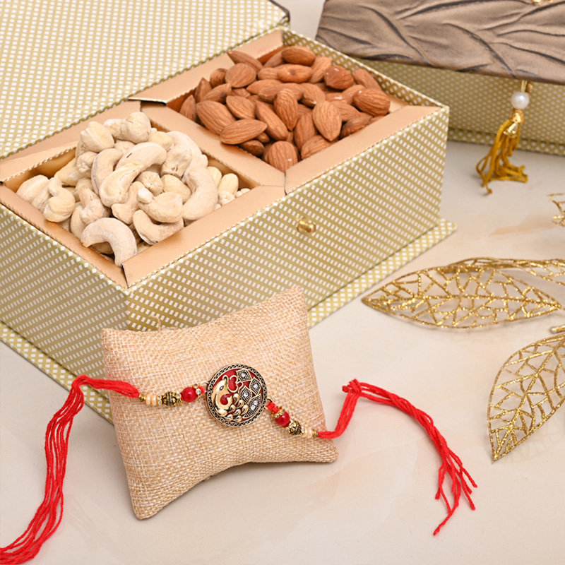 Nuts Rakhi Signature Box - Designer Rakhi Premium Box