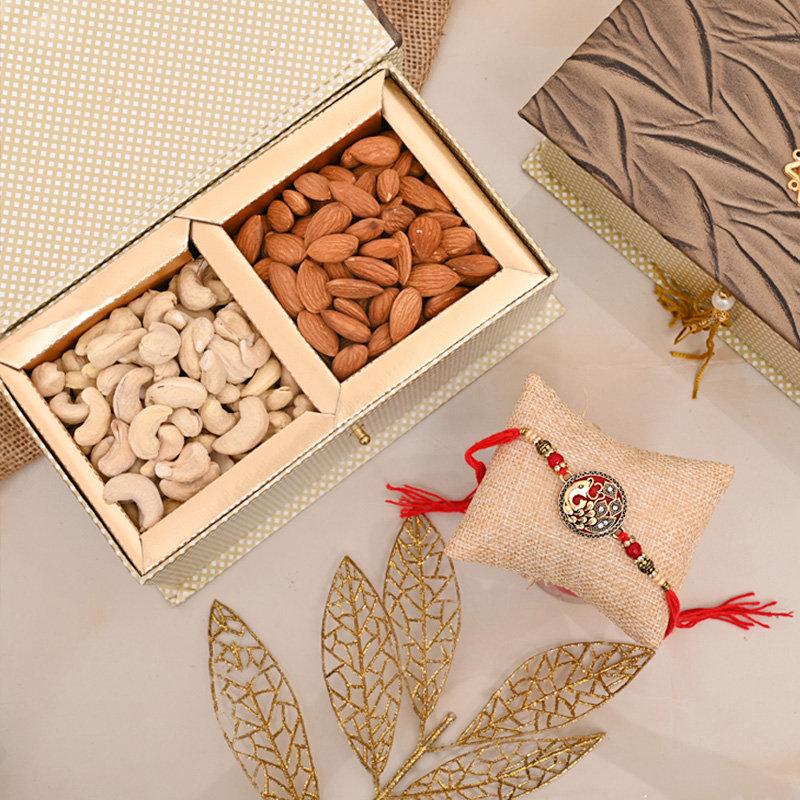 Designer Rakhi Premium Box - Nuts Rakhi Signature Box