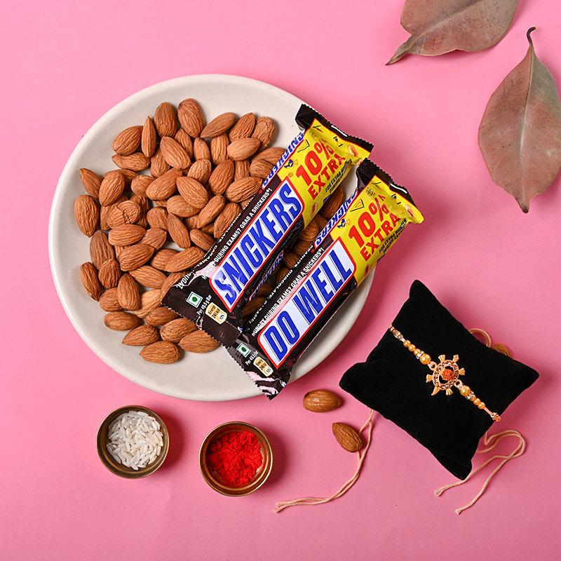 Nutty Beads Choco Rakhi Combo