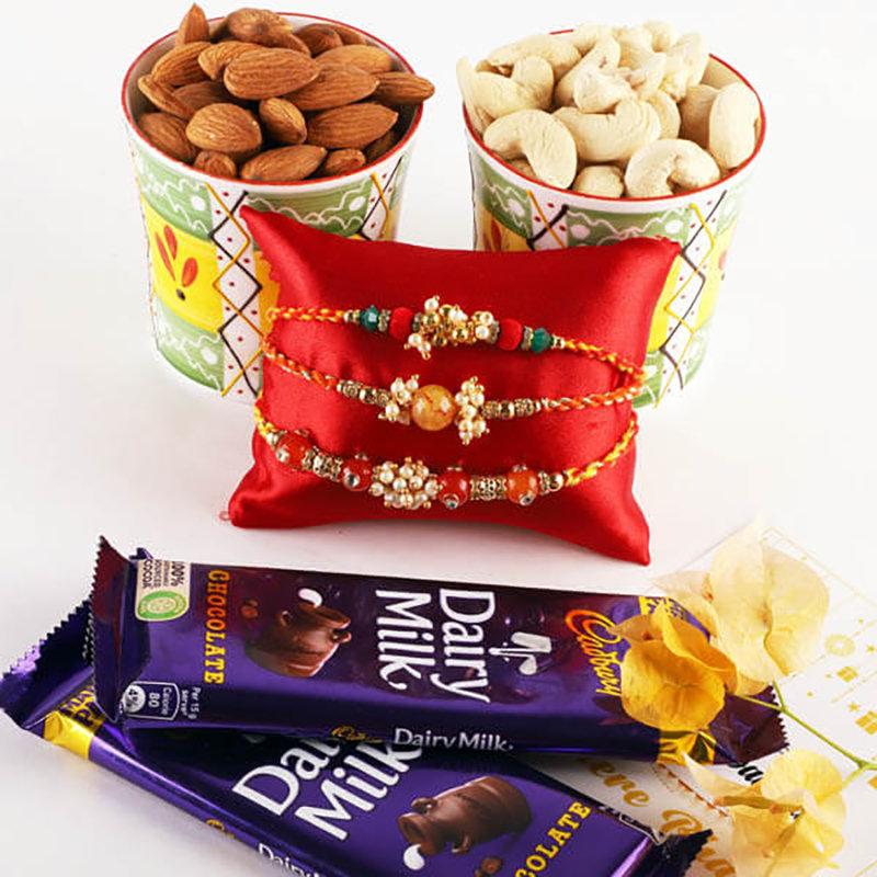 Nutty N Chocolaty Rakhi Hamper