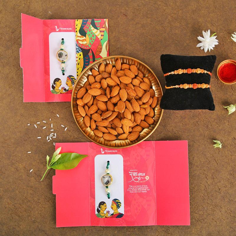 Nutty Rakhi Combo Pack