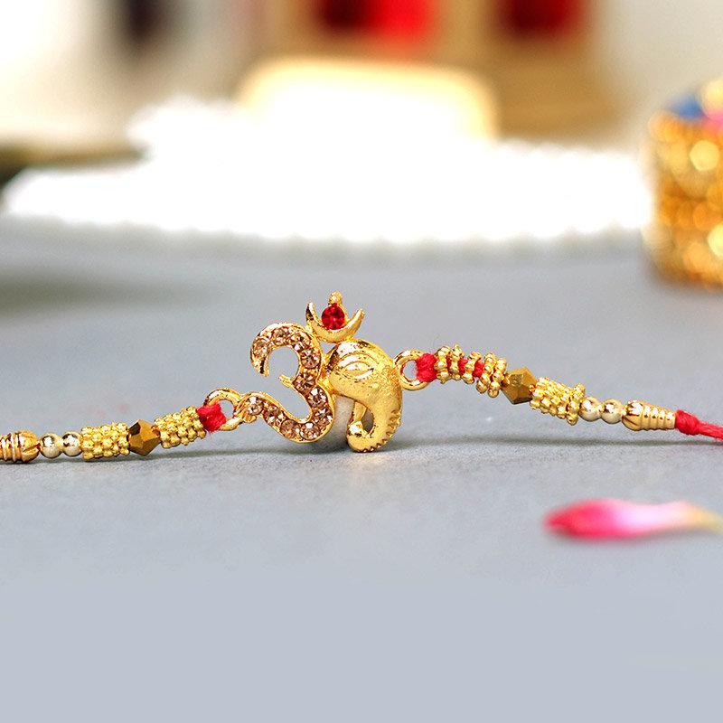 Om Gold Ganesha Rakhi