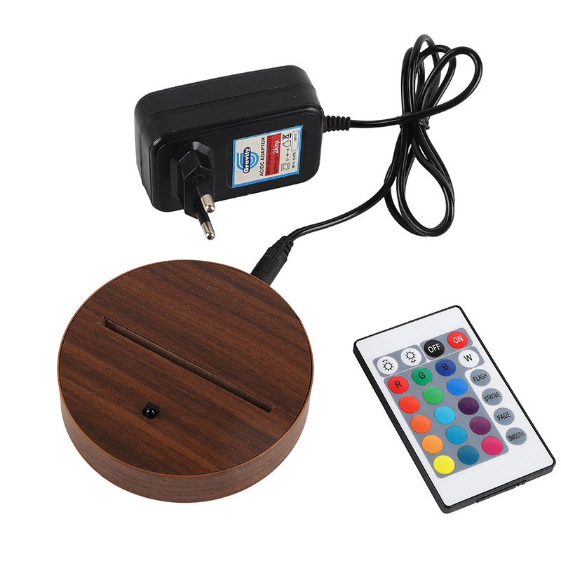 Om Namah Shivay LED Lamp - Adapter with Remote and Stand