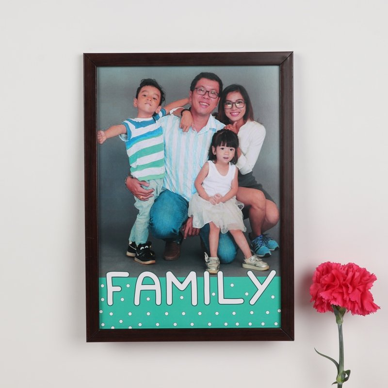 One Big Happy Family Photo Frame - Personalised A4 Size Wall Frame