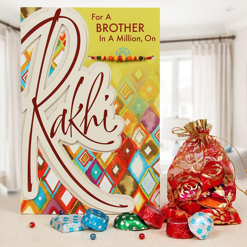One a Million - Rakhi with Card