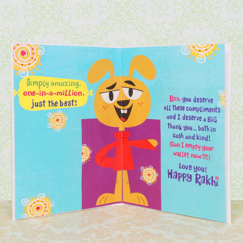 Rakhi Card in One Of A Kind Bro