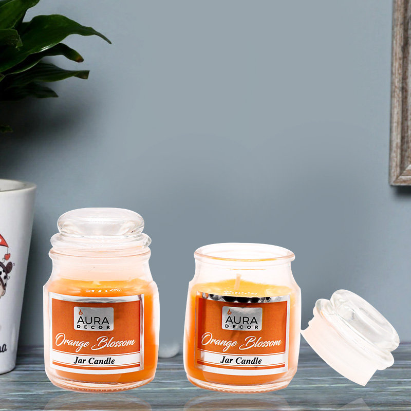 2 Jar Candles with Orange Blossom Fragrance