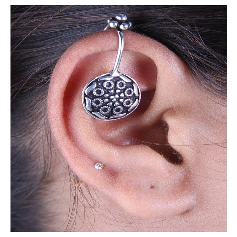 Oxidised Cuff Earrings