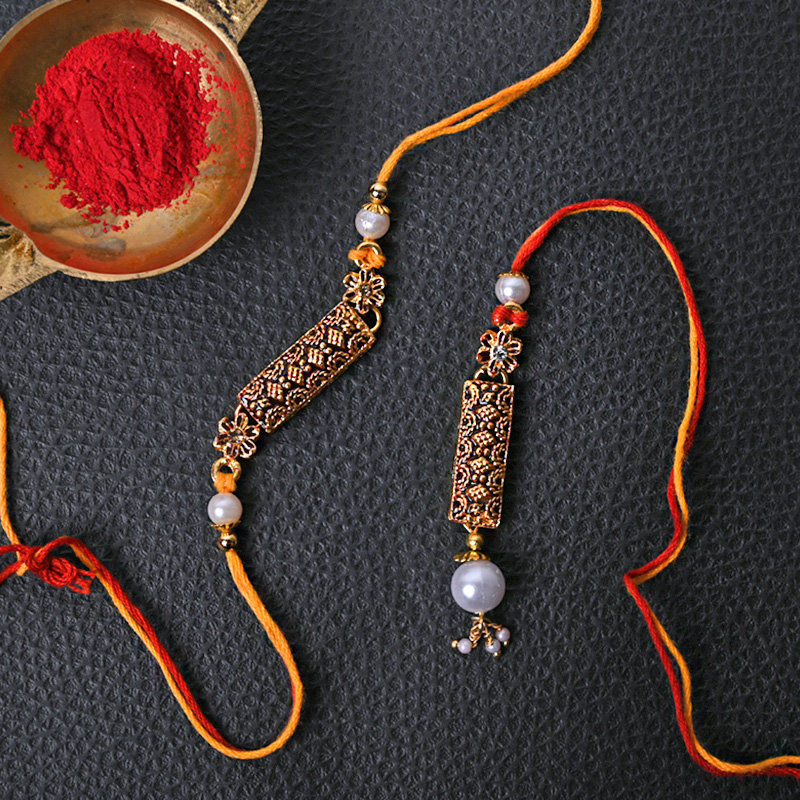 Oxidised Rakhi Set - Set of 2 Designer Rakhi