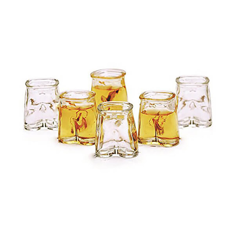 Set of 6 Pants Up Shot Glasses - Unique Birthday Gift for him