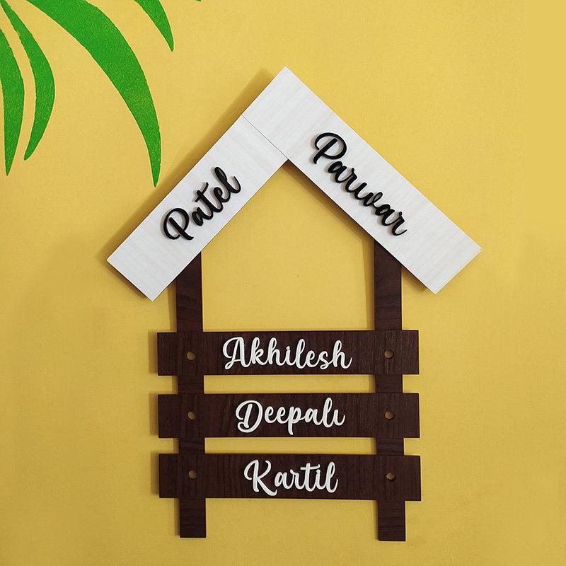 Parivaar Wooden Nameplate