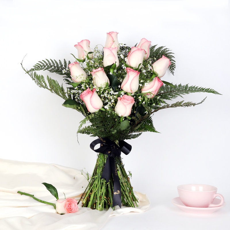 Passonate Pink Rose Boquet