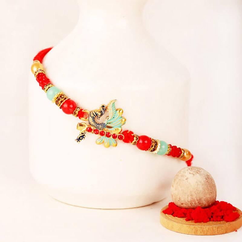 Peacock Beads Rakhi