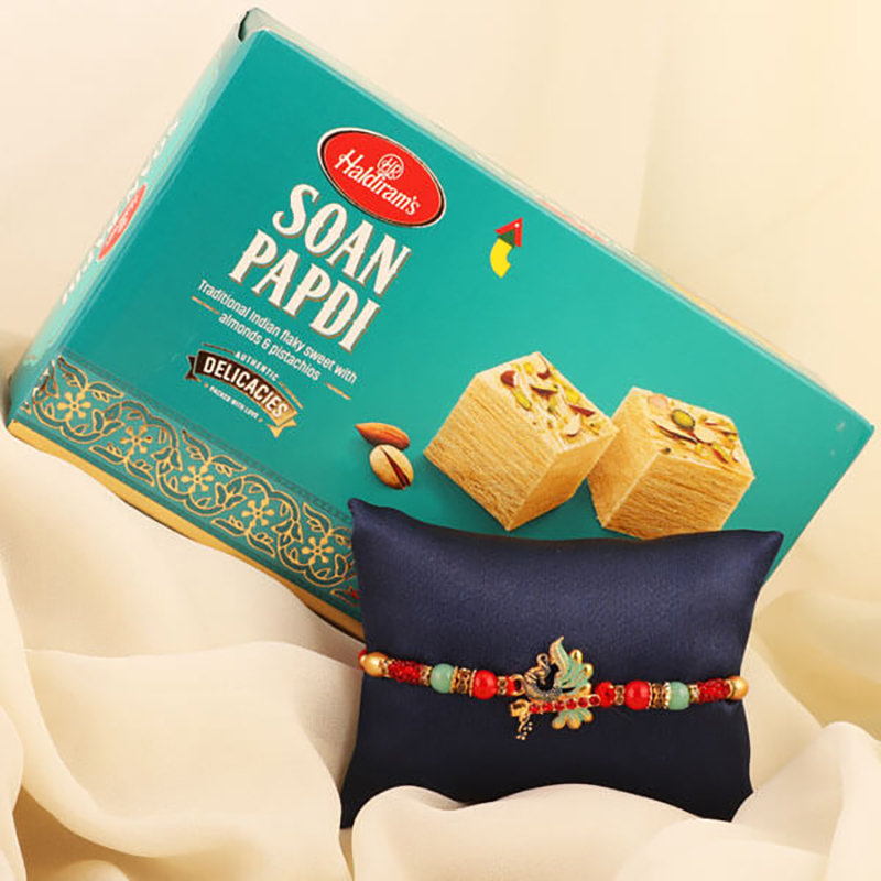Peacock Rakhi N Sweets