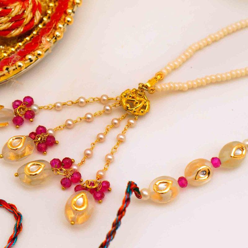 Pearl Lumba Thread Rakhi