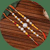 Order Perl rakhi online in India