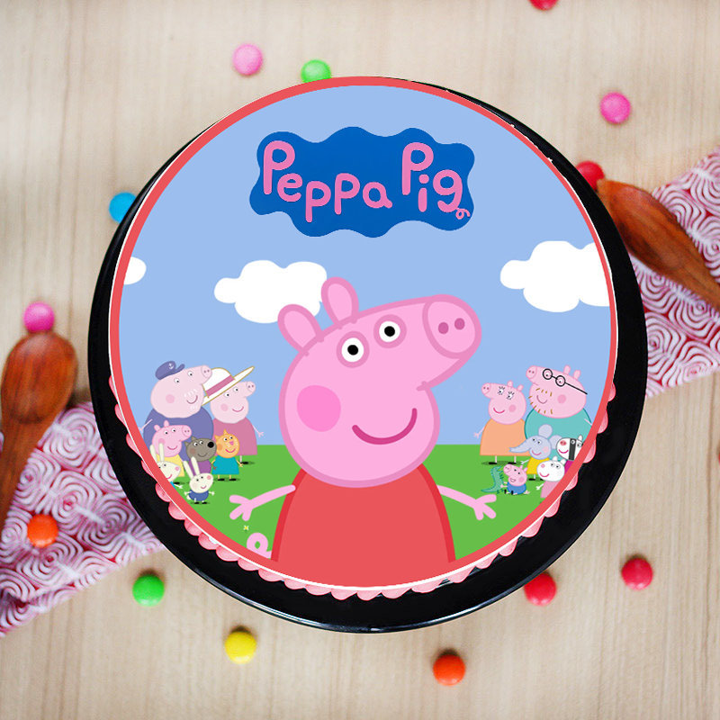 Peppa Is Super Poster Cake