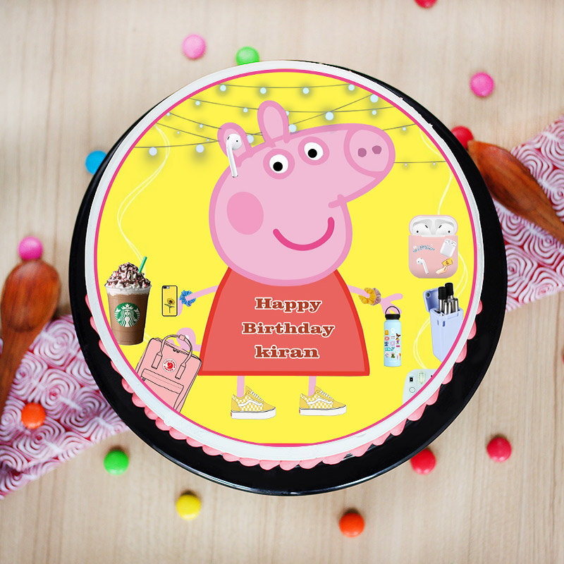 Peppa Pig Poster Cake