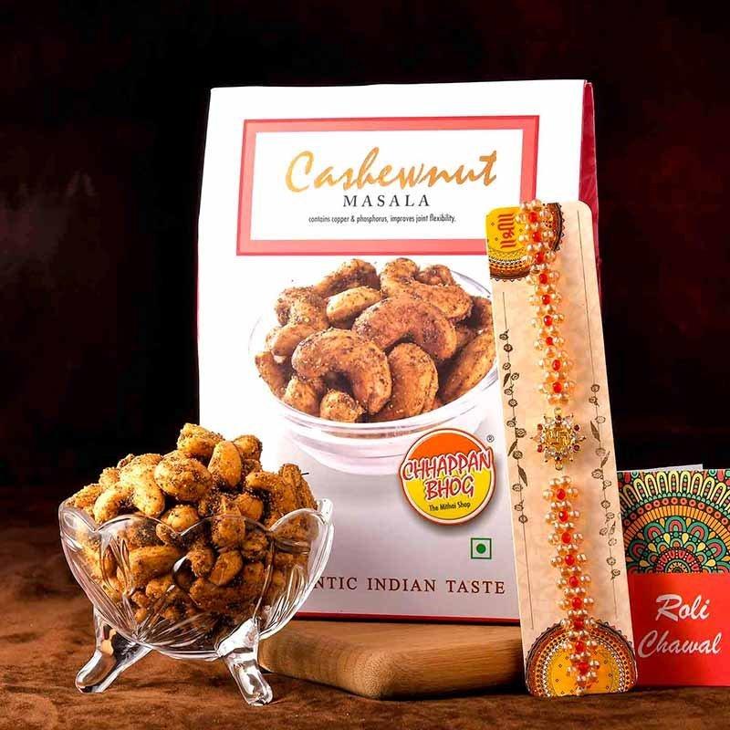 Peppery Cashews N Rakhi Combo