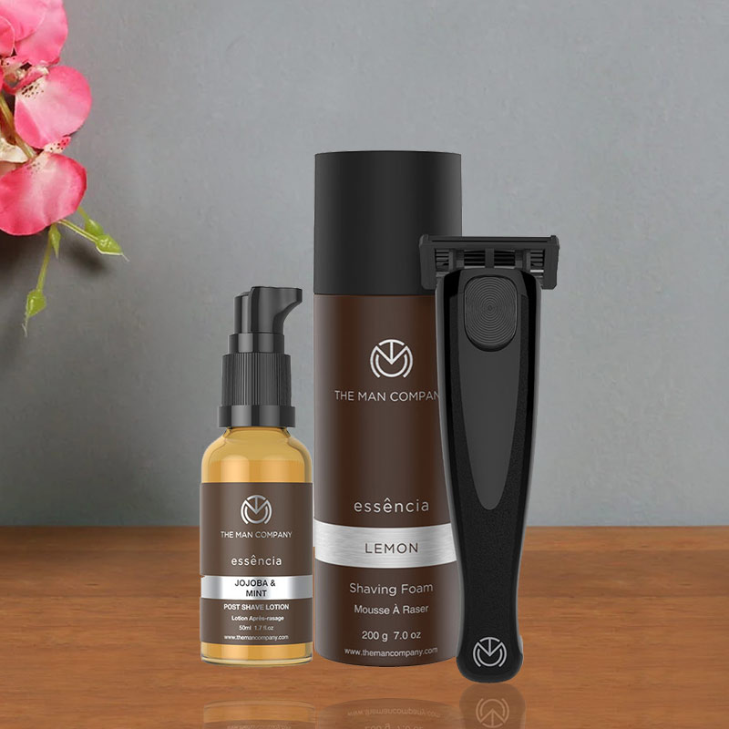 Perfect Beard Combo Set of Shaving Foam and Black Razor and After shave and Brightening Cream