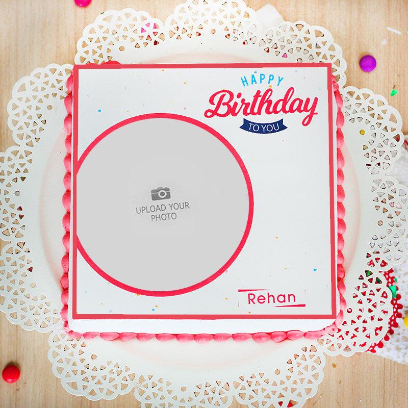 Birthday Theme Cake - Top View