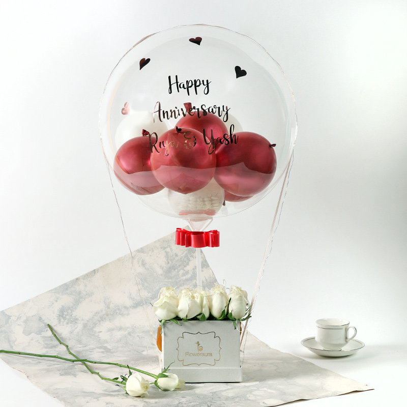 Personalised Anniversary Balloon Bouquet