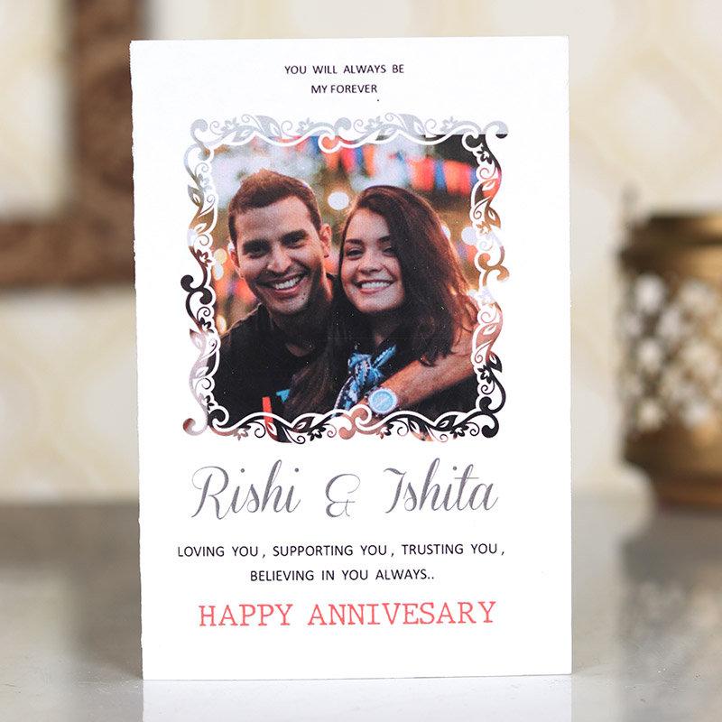 Personalised Anniversary Card