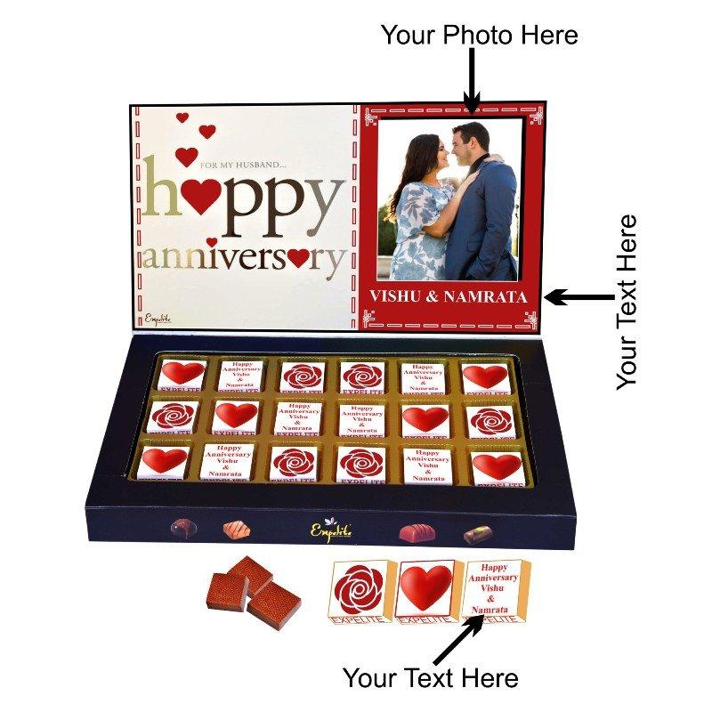 Personalised Anniversary Chocolate Box