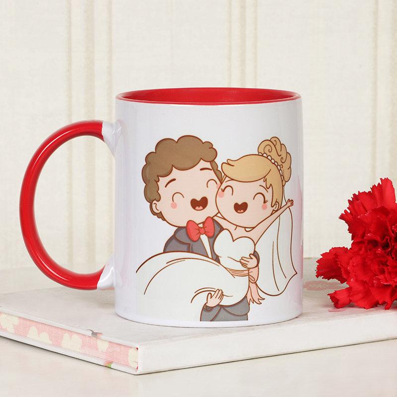 Personalised Anniversary Mug - One Personalised Ceramic Mug - Size: Height 4'' & Diameter 3'' (350ml)