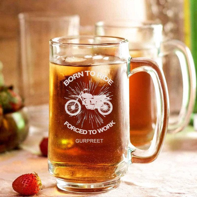 Custom Glass Beer Mugs