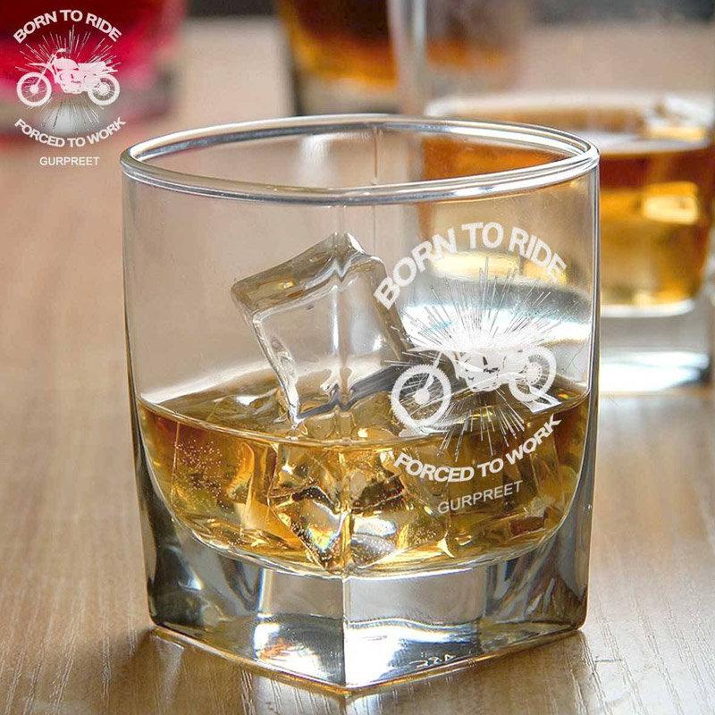 Engraved Whiskey Glass Set