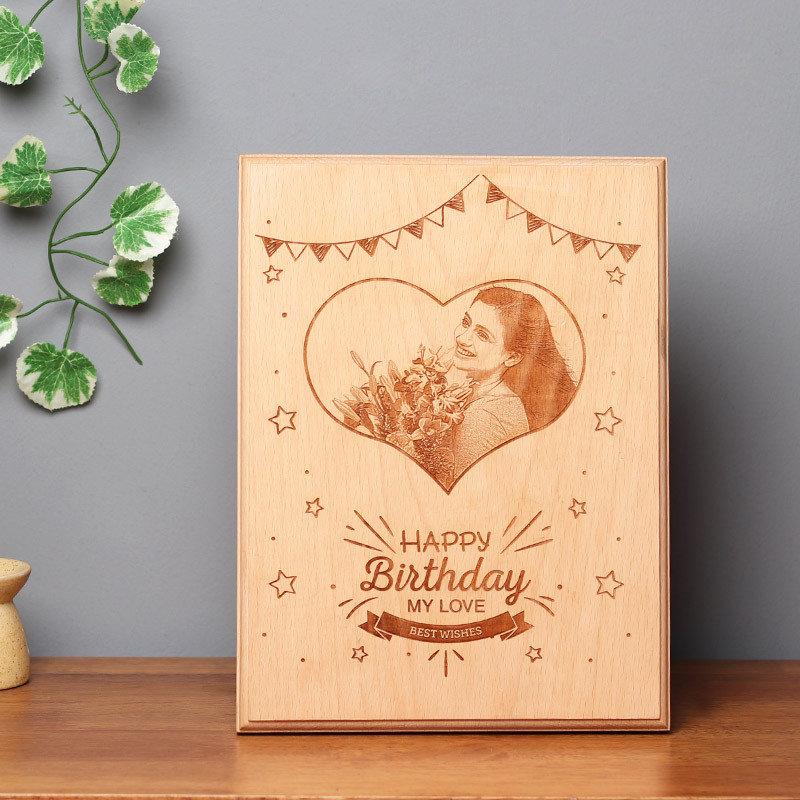 Customised Birthday Wooden Frame